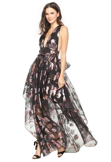 Milly Floral Lurex Organza Angie Dress