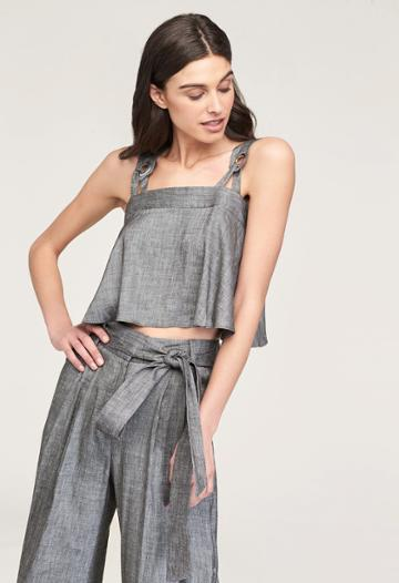 Milly Abigale Crop Top - Olive