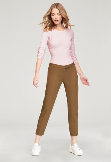 Milly Cigarette Pant - Olive