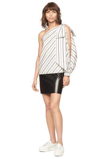 Milly Stripe Shirting Nina Top