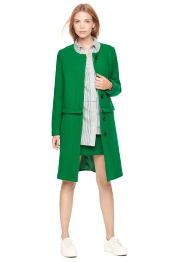 Milly Doubleface Wool Yevette Coat