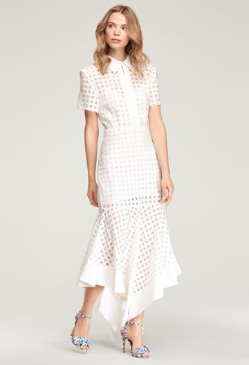 Milly Illusion Check Adeline Dress