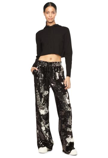 Milly Sequins Track Pant