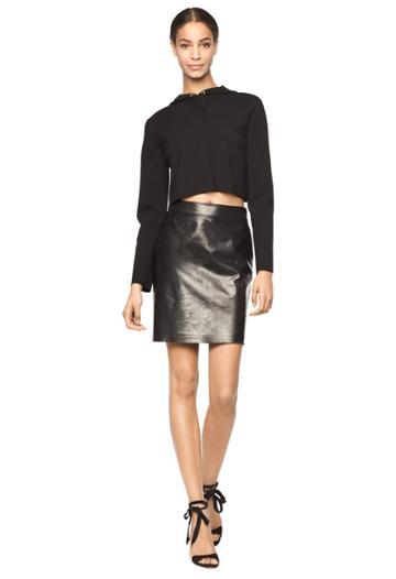 Milly Lightweight Leather Modern Mini Skirt