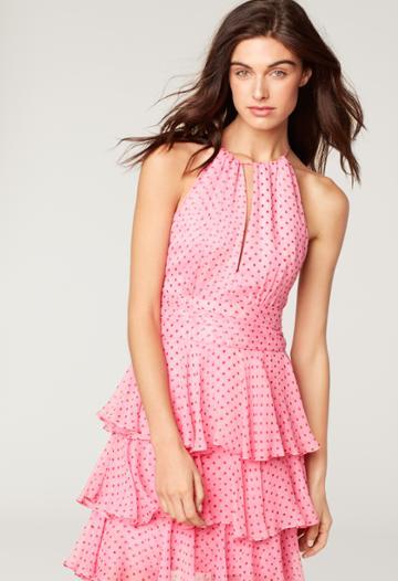 Milly Jillian Dress - Pink/red