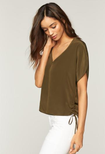 Milly Dolman Top - Army Green