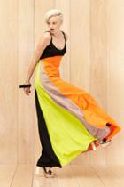 Milly Colorblock Maxi Dress