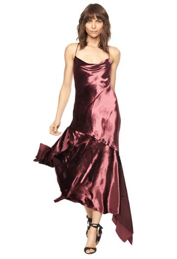 Milly Liene Dress - Burgundy