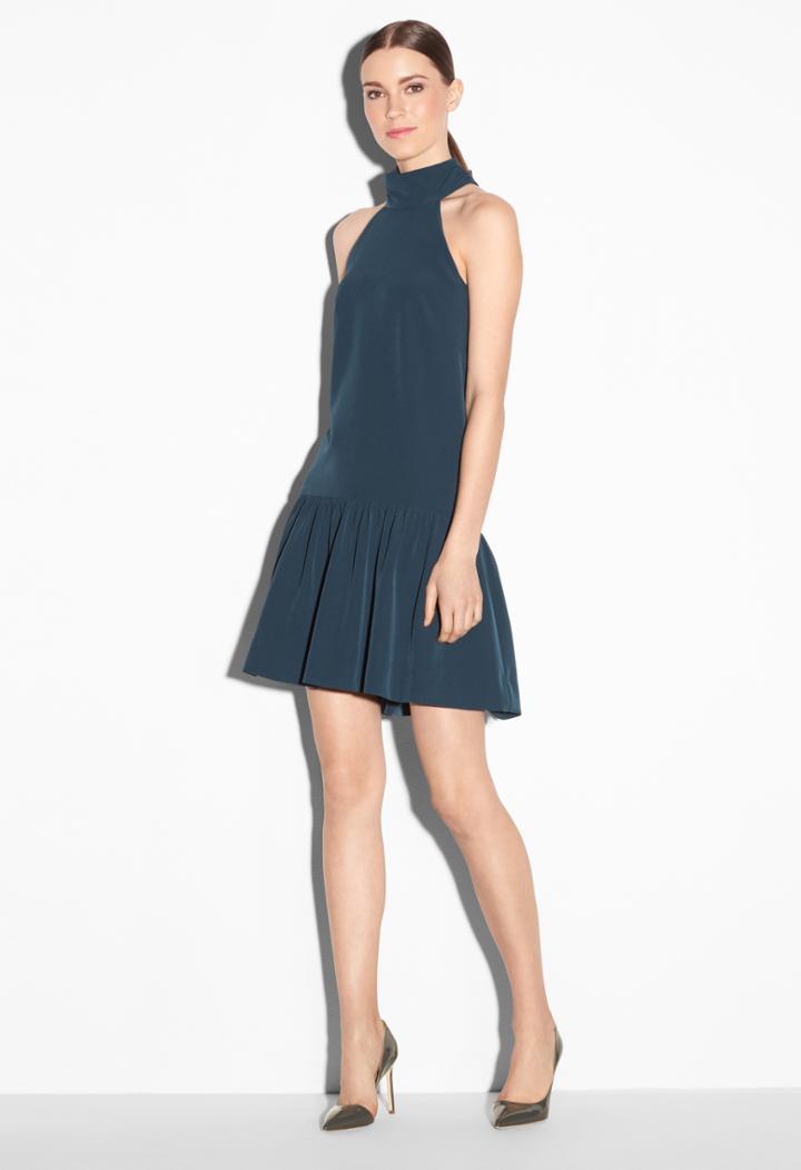 Milly Italian Cady Dropwaist Katelyn Dress