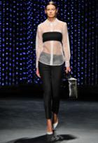 Milly Silk Organza Buttondown Shirt