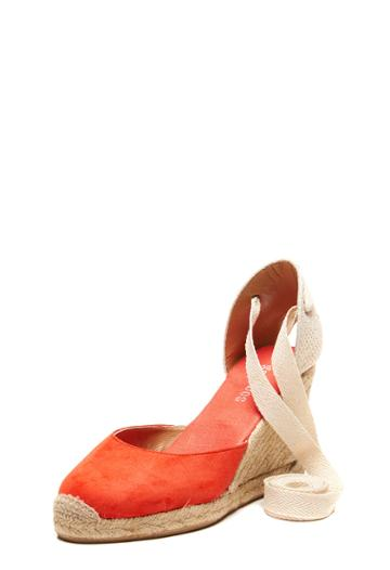 Milly Tall Wedge (90mm) - Fire Red