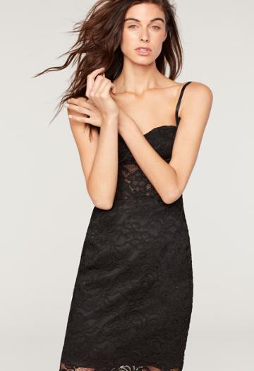 Milly Bustier Knee Length Dress - Black