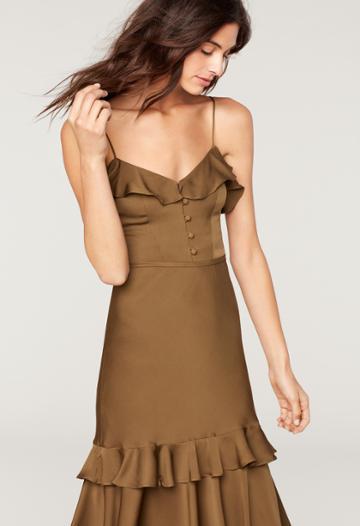 Milly Stretch Silk Petal Dress