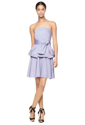 Milly Italian Cross Dye Shirting Kylie Dress