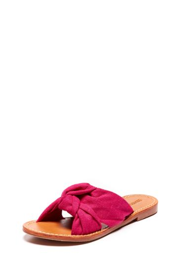 Milly Knotted Slide Sandal - Fuchsia