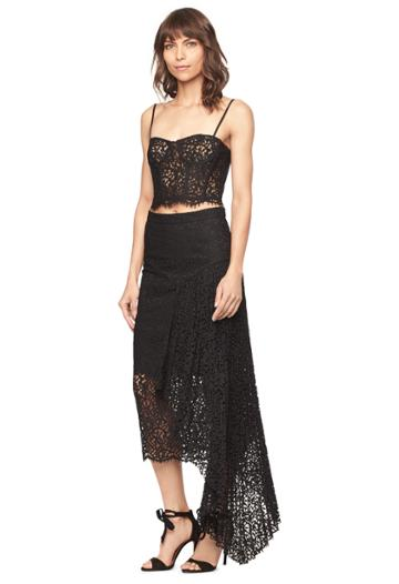 Milly Lace Side Cascade Skirt