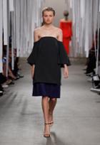 Milly Italian Cady Mila Mini Dress - Black