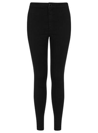 Miss Selfridge Womens Petites Black High Waist Jeans