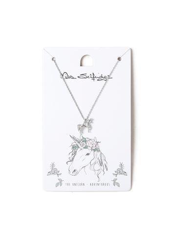 Miss Selfridge Womens Unicorn Spirit Animal Ditsy Necklace