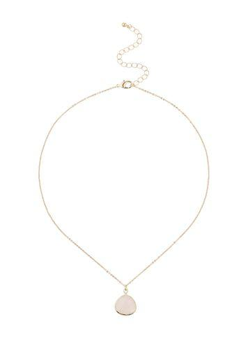 Miss Selfridge Womens Loved Rose Quartz Necklace