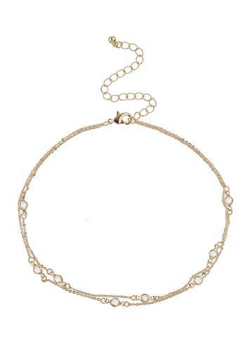 Miss Selfridge Womens Loved Rhinestone Choker