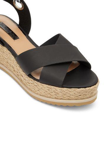 Miss Selfridge Womens Magic Gingham Flatform Sandals