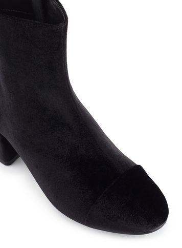 Miss Selfridge Womens Delilah Black Velvet Ankle Boots
