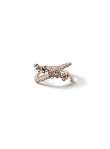 Miss Selfridge Womens Flower Weave Ring