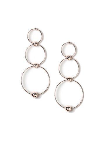 Miss Selfridge Womens Circle & Ball Drop Earrings