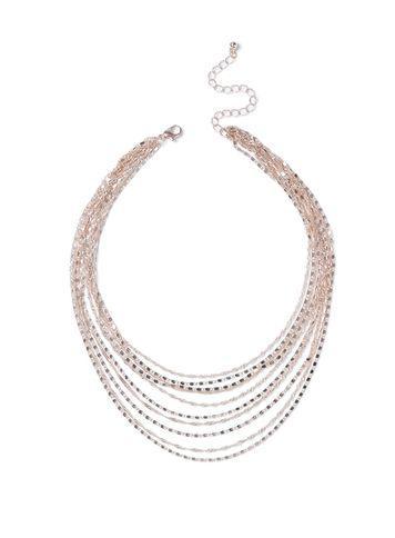 Miss Selfridge Womens Chain Multi Row Necklace