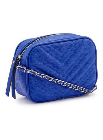 Miss Selfridge Womens Blue Quilted Cross Body Bag