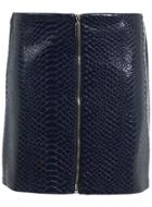 Miss Selfridge Womens Croc Pu Mini Skirt