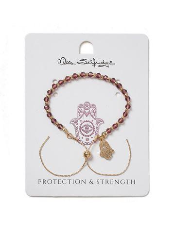 Miss Selfridge Womens Protection And Strength Charm Bracelet