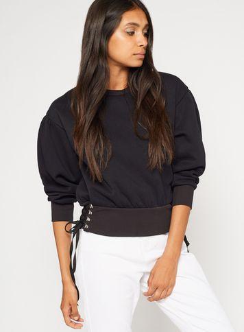 Miss Selfridge Womens Petite Corset Side Sweatshirt