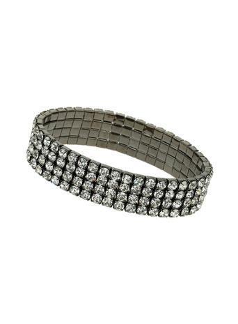 Womens Rhinestone Stretch Bracelet