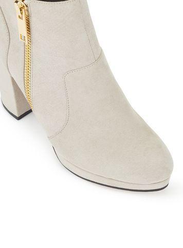 Miss Selfridge Womens Dalia Platform Zip Ankle Boots