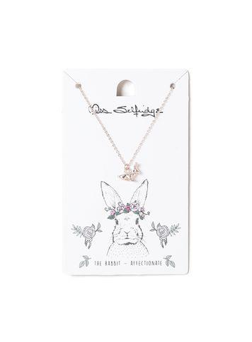 Miss Selfridge Womens Bunny Spirit Animal Ditsy Necklace