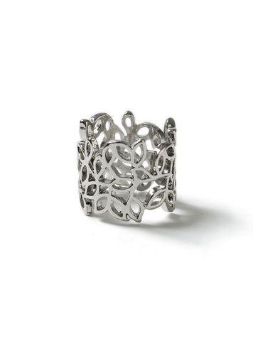 Miss Selfridge Womens Leaf Wrap Ring