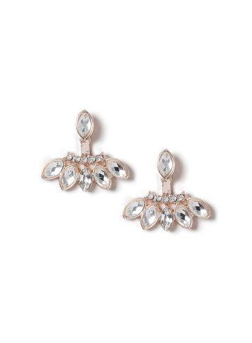 Miss Selfridge Womens Front And Back Embellished Earrings