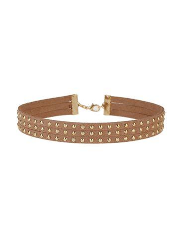 Miss Selfridge Womens Suede Stud Choker