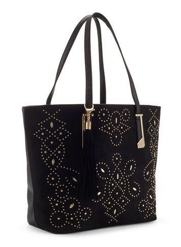 Miss Selfridge Womens Stud Tote Bag