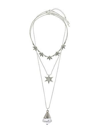 Womens Star Charm Necklace Set
