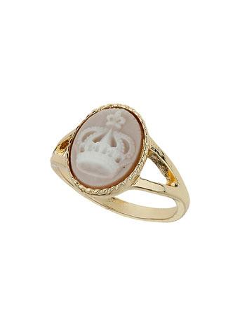 Crown Cameo Ring