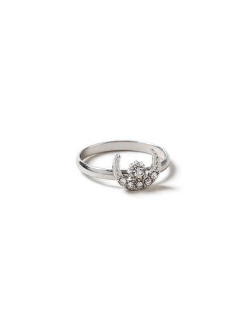 Miss Selfridge Womens Rhinestone Horn Ring
