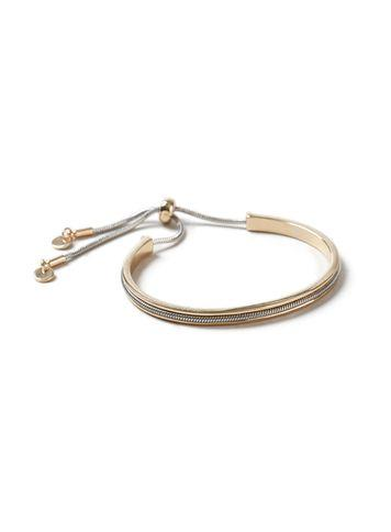 Miss Selfridge Womens Mixed Metal Toggel Bracelet