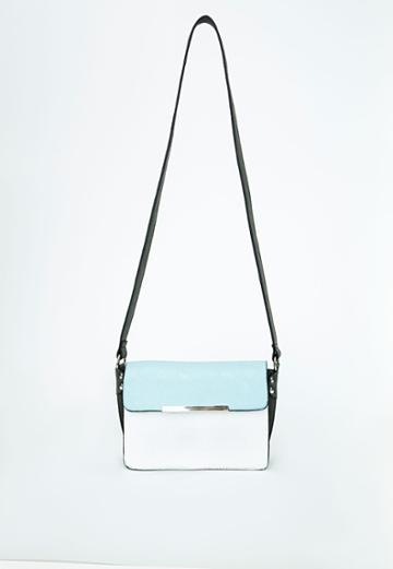 Missguided Contrast Shoulder Bag Powder Blue