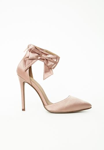 Missguided Ankle Strap Bow Detail Court Shoes