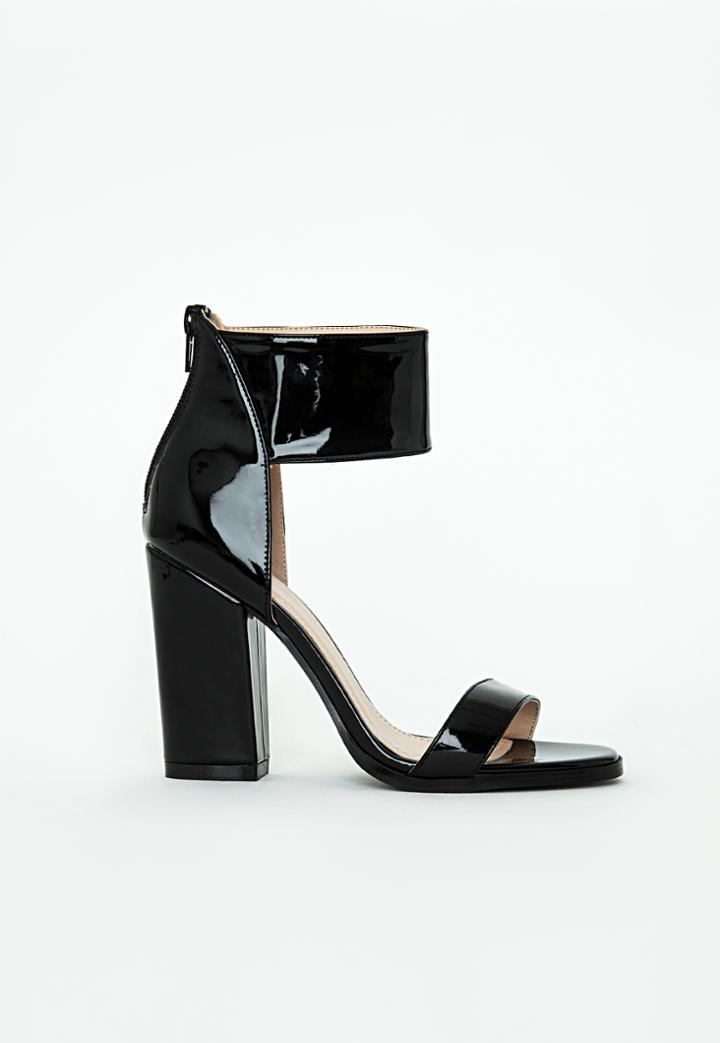 Missguided Ankle Cuff Block Heel Sandal