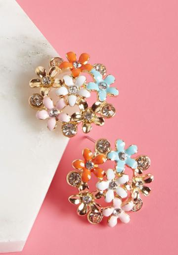 Modcloth Floral Fortune Earrings
