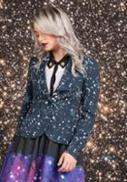 Modcloth Stargazing Splendor Blazer In Constellations